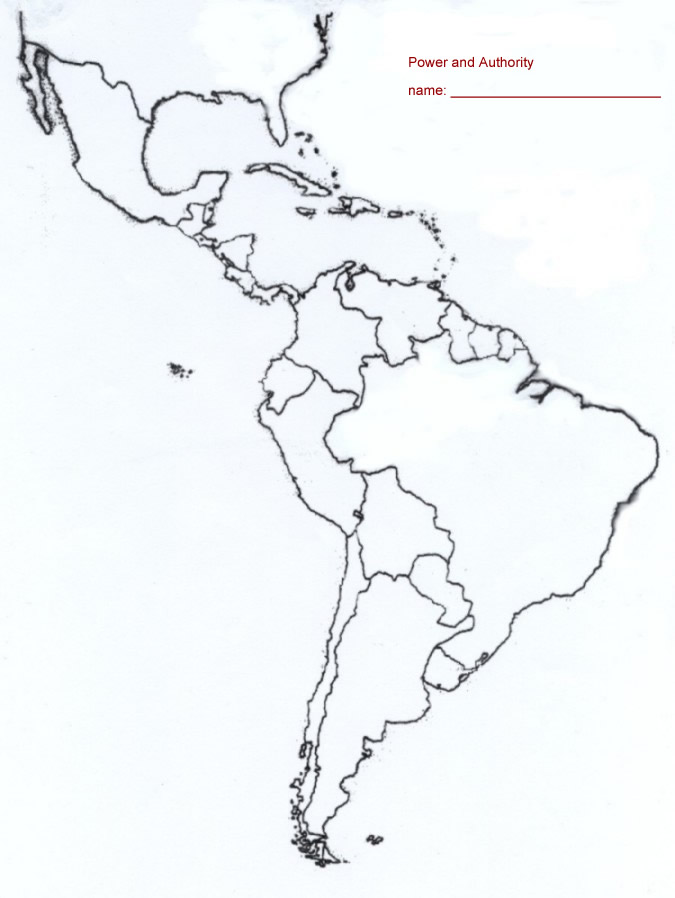Refreshing image within south america printable map